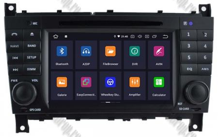 Navigatie Mercedes Benz C-Class W203/ CLC, Android 9, Octacore|PX5|/ 4GB RAM + 64GB ROM cu DVD, 7 Inch - AD-BGWMBCCM7P51