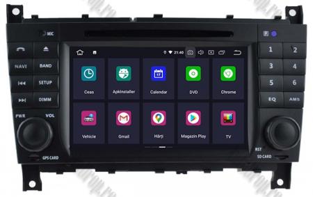 Navigatie Mercedes Benz C-Class W203/ CLC, Android 9, Octacore|PX5|/ 4GB RAM + 64GB ROM cu DVD, 7 Inch - AD-BGWMBCCM7P52