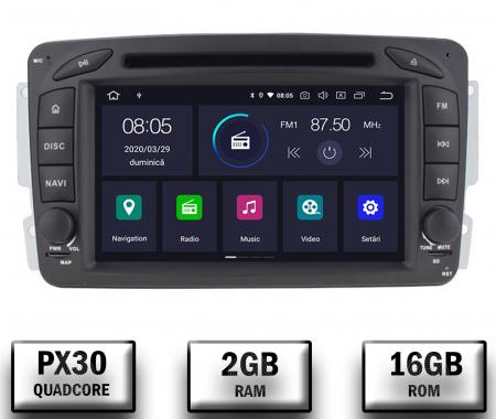 Navigatie Mercedes Benz C-CLASS W203 / Vito / Viano / CLK, Android 10, QUADCORE|PX30| / 2GB RAM + 16GB ROM, 7 Inch - AD-BGWMBCC7P30