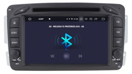 Navigatie Mercedes Benz C-CLASS W203 / Vito / Viano / CLK, Android 10, QUADCORE|PX30| / 2GB RAM + 16GB ROM, 7 Inch - AD-BGWMBCC7P34
