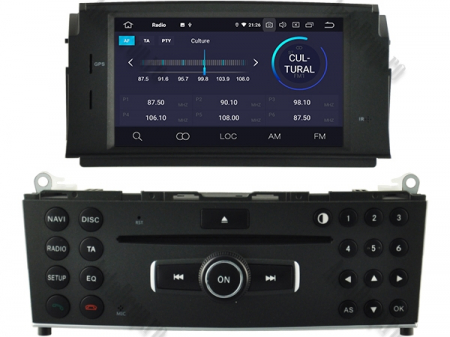 Navigatie Mercedes Benz C-Class W204 2007-2011, Android 9, Quadcore|PX30|/ 2GB RAM + 16GB ROM cu DVD, 7 Inch - AD-BGWMBW204P33