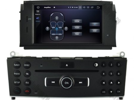 Navigatie Mercedes Benz C-Class W204 2007-2011, Android 9, Octacore|PX5|/ 4GB RAM + 64GB ROM cu DVD, 7 Inch - AD-BGWMBW204P56