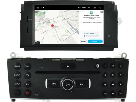 Navigatie Mercedes Benz C-Class W204 2007-2011, Android 9, Octacore|PX5|/ 4GB RAM + 64GB ROM cu DVD, 7 Inch - AD-BGWMBW204P514