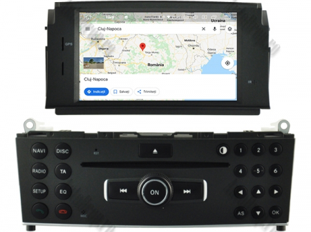 Navigatie Mercedes Benz C-Class W204 2007-2011, Android 9, Quadcore|PX30|/ 2GB RAM + 16GB ROM cu DVD, 7 Inch - AD-BGWMBW204P311