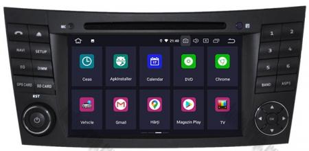 Navigatie Mercedes Benz E-Class W211/ CLS W219, Android 10, Octacore|PX5|/ 4GB RAM + 64GB ROM cu DVD, 7 Inch - AD-BGWMBW211P52