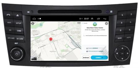 Navigatie Mercedes Benz E-Class W211/ CLS W219, Android 9, Octacore|PX5|/ 4GB RAM + 64GB ROM cu DVD, 7 Inch - AD-BGWMBW211P514