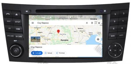 Navigatie Mercedes Benz E-Class W211/ CLS W219, Android 10, Octacore|PX5|/ 4GB RAM + 64GB ROM cu DVD, 7 Inch - AD-BGWMBW211P512