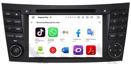 Navigatie Mercedes Benz E-Class W211/ CLS W219, Android 10, Octacore|PX5|/ 4GB RAM + 64GB ROM cu DVD, 7 Inch - AD-BGWMBW211P511