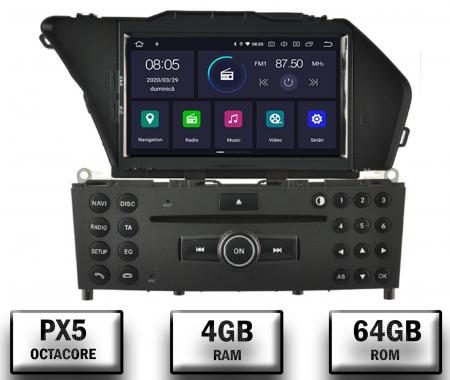 Navigatie Mercedes Benz GLK X204/ GLK300/ GLK 350, Android 9, Octacore|PX5|/ 4GB RAM + 64GB ROM cu DVD, 7 Inch - AD-BGWMBGLKP50