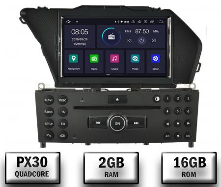 Navigatie Mercedes Benz GLK X204/ GLK300/ GLK 350, Android 10, Quadcore PX30 / 2GB RAM + 16GB ROM cu DVD, 7 Inch - AD-BGWMBGLKP30
