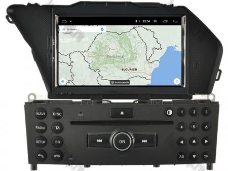 Navigatie Mercedes Benz GLK X204/ GLK300/ GLK 350, Android 9, Octacore|PX5|/ 4GB RAM + 64GB ROM cu DVD, 7 Inch - AD-BGWMBGLKP512
