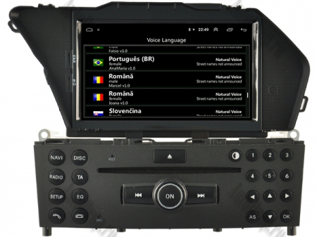 Navigatie Mercedes Benz GLK X204/ GLK300/ GLK 350, Android 9, Octacore|PX5|/ 4GB RAM + 64GB ROM cu DVD, 7 Inch - AD-BGWMBGLKP57