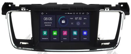 Navigatie Peugeot 508, Android 9, Quadcore|PX30|/ 2GB RAM + 16GB ROM cu DVD, 7 Inch - AD-BGWPGT508P318