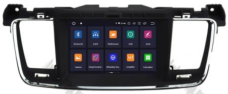 Navigatie Peugeot 508, Android 9, Quadcore|PX30|/ 2GB RAM + 16GB ROM cu DVD, 7 Inch - AD-BGWPGT508P322