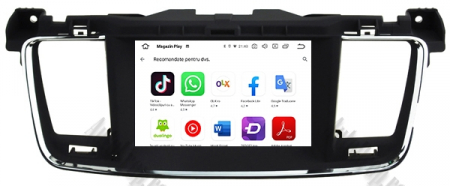 Navigatie Peugeot 508, Android 9, Octacore|PX5|/ 4GB RAM + 64GB ROM cu DVD, 7 Inch - AD-BGWPGT508P59