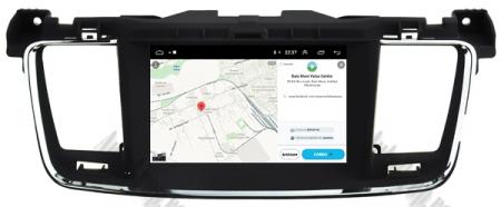 Navigatie Peugeot 508, Android 9, Quadcore|PX30|/ 2GB RAM + 16GB ROM cu DVD, 7 Inch - AD-BGWPGT508P317