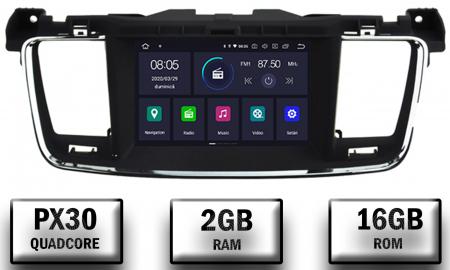 Navigatie Peugeot 508, Android 9, Quadcore|PX30|/ 2GB RAM + 16GB ROM cu DVD, 7 Inch - AD-BGWPGT508P30