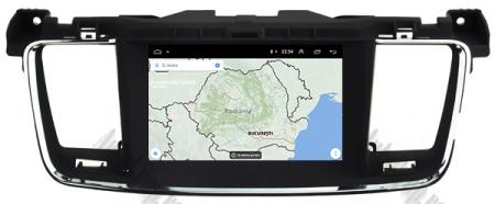 Navigatie Peugeot 508, Android 9, Quadcore|PX30|/ 2GB RAM + 16GB ROM cu DVD, 7 Inch - AD-BGWPGT508P319