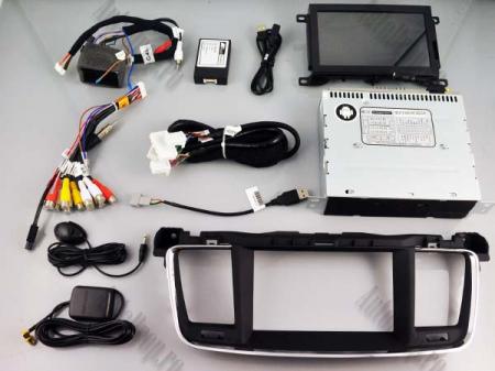Navigatie Peugeot 508, Android 9, Quadcore|PX30|/ 2GB RAM + 16GB ROM cu DVD, 7 Inch - AD-BGWPGT508P37