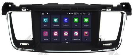 Navigatie Peugeot 508, Android 9, Quadcore|PX30|/ 2GB RAM + 16GB ROM cu DVD, 7 Inch - AD-BGWPGT508P324