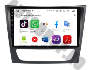 Navigatie Mercedes Benz W211/CLS, QUADCORE|MTK| / 1GB RAM + 16 ROM, 9 Inch - AD-BGPW211MTK8