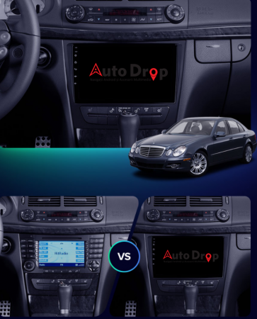 Navigatie Mercedes Benz W211/CLS, QUADCORE|MTK| / 1GB RAM + 16 ROM, 9 Inch - AD-BGPW211MTK14