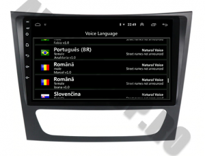 Navigatie Mercedes Benz W211/CLS, QUADCORE|MTK| / 1GB RAM + 16 ROM, 9 Inch - AD-BGPW211MTK7