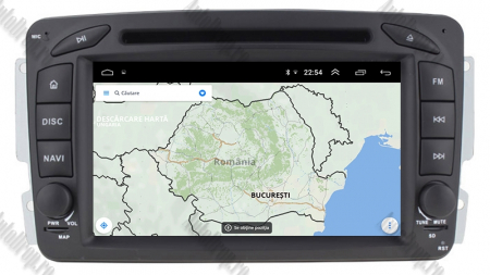 Navigatie Mercedes Benz C-Class W203 / Vito / Viano / CLK, Android 10, Octacore|PX5| / 4GB RAM + 64GB ROM, 7 Inch - AD-BGWMBCC7P514