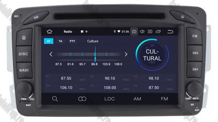 Navigatie Mercedes Benz C-CLASS W203 / Vito / Viano / CLK, Android 10, QUADCORE|PX30| / 2GB RAM + 16GB ROM, 7 Inch - AD-BGWMBCC7P36