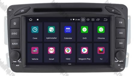 Navigatie Mercedes Benz C-CLASS W203 / Vito / Viano / CLK, Android 10, QUADCORE|PX30| / 2GB RAM + 16GB ROM, 7 Inch - AD-BGWMBCC7P32