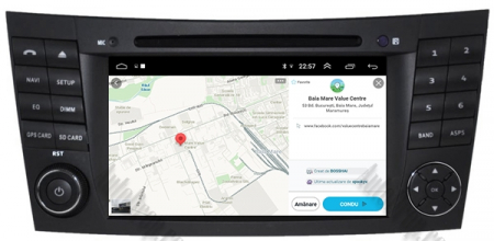 Navigatie Mercedes Benz E-Class W211/ CLS W219, Android 10, QUADCORE|PX30|/ 2GB RAM + 16GB ROM cu DVD, 7 Inch - AD-BGWMBW211P313