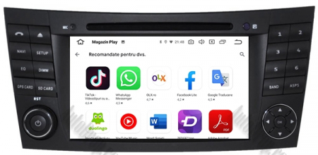 Navigatie Mercedes Benz E-Class W211/ CLS W219, Android 10, QUADCORE|PX30|/ 2GB RAM + 16GB ROM cu DVD, 7 Inch - AD-BGWMBW211P310