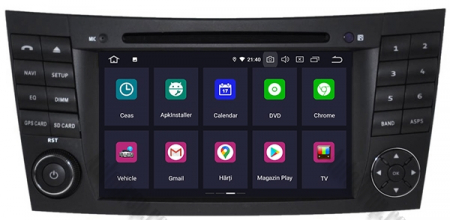 Navigatie Mercedes Benz E-Class W211/ CLS W219, Android 10, QUADCORE|PX30|/ 2GB RAM + 16GB ROM cu DVD, 7 Inch - AD-BGWMBW211P31