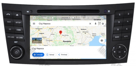 Navigatie Mercedes Benz E-Class W211/ CLS W219, Android 10, QUADCORE|PX30|/ 2GB RAM + 16GB ROM cu DVD, 7 Inch - AD-BGWMBW211P312