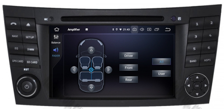 Navigatie Mercedes Benz E-Class W211/ CLS W219, Android 10, QUADCORE|PX30|/ 2GB RAM + 16GB ROM cu DVD, 7 Inch - AD-BGWMBW211P37