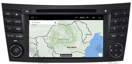 Navigatie Mercedes Benz E-Class W211/ CLS W219, Android 10, QUADCORE|PX30|/ 2GB RAM + 16GB ROM cu DVD, 7 Inch - AD-BGWMBW211P314