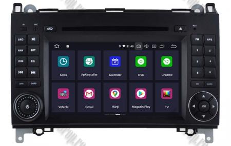 Navigatie Mercedes Benz/VW A/B-Class Vito Viano Sprinter Crafter, Android 10, QUADCORE|PX30|/ 2GB RAM + 16GB ROM cu DVD, 7 Inch - AD-BGWMBSPR7P32