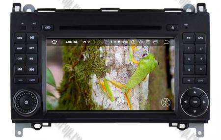 Navigatie Mercedes Benz/VW A/B-Class Vito Viano Sprinter Crafter, Android 10, QUADCORE|PX30|/ 2GB RAM + 16GB ROM cu DVD, 7 Inch - AD-BGWMBSPR7P312