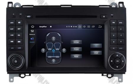 Navigatie Mercedes Benz/VW A/B-Class Vito Viano Sprinter Crafter, Android 10, QUADCORE|PX30|/ 2GB RAM + 16GB ROM cu DVD, 7 Inch - AD-BGWMBSPR7P35
