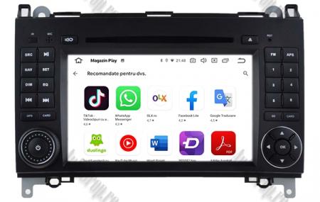 Navigatie Mercedes Benz/VW A/B-Class Vito Viano Sprinter Crafter, Android 10, QUADCORE|PX30|/ 2GB RAM + 16GB ROM cu DVD, 7 Inch - AD-BGWMBSPR7P37