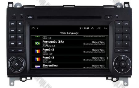 Navigatie Mercedes Benz/VW A/B-Class Vito Viano Sprinter Crafter, Android 10, QUADCORE|PX30|/ 2GB RAM + 16GB ROM cu DVD, 7 Inch - AD-BGWMBSPR7P36