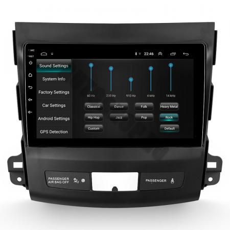 Navigatie Mitstubishi Outlander / Peugeot 4007 / Citroen C-Crosser, Android 9.1, QUADCORE|MTK| / 1GB RAM + 16 ROM, 9 Inch - AD-BGPOUTLANDER9MTK1GB5