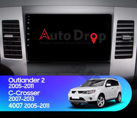 Navigatie Mitstubishi Outlander / Peugeot 4007 / Citroen C-Crosser, Android 9.1, QUADCORE|MTK| / 1GB RAM + 16 ROM, 9 Inch - AD-BGPOUTLANDER9MTK1GB17