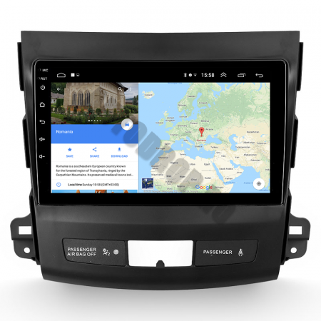 Navigatie Mitstubishi Outlander / Peugeot 4007 / Citroen C-Crosser, Android 9.1, QUADCORE|MTK| / 1GB RAM + 16 ROM, 9 Inch - AD-BGPOUTLANDER9MTK1GB14