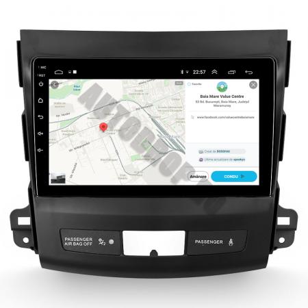 Navigatie Mitstubishi Outlander / Peugeot 4007 / Citroen C-Crosser, Android 9.1, QUADCORE|MTK| / 1GB RAM + 16 ROM, 9 Inch - AD-BGPOUTLANDER9MTK1GB13