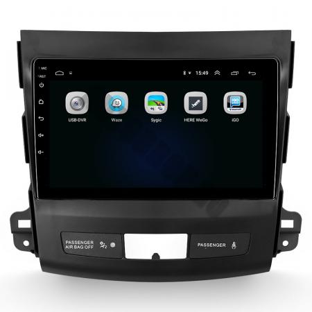 Navigatie Mitstubishi Outlander / Peugeot 4007 / Citroen C-Crosser, Android 9.1, QUADCORE|MTK| / 1GB RAM + 16 ROM, 9 Inch - AD-BGPOUTLANDER9MTK1GB4