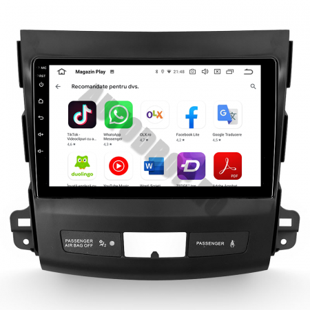 Navigatie Mitstubishi Outlander / Peugeot 4007 / Citroen C-Crosser, Android 9.1, QUADCORE|MTK| / 1GB RAM + 16 ROM, 9 Inch - AD-BGPOUTLANDER9MTK1GB8