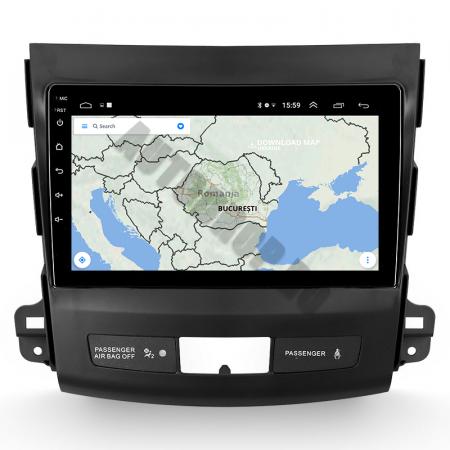 Navigatie Mitstubishi Outlander / Peugeot 4007 / Citroen C-Crosser, Android 9.1, QUADCORE|MTK| / 1GB RAM + 16 ROM, 9 Inch - AD-BGPOUTLANDER9MTK1GB11