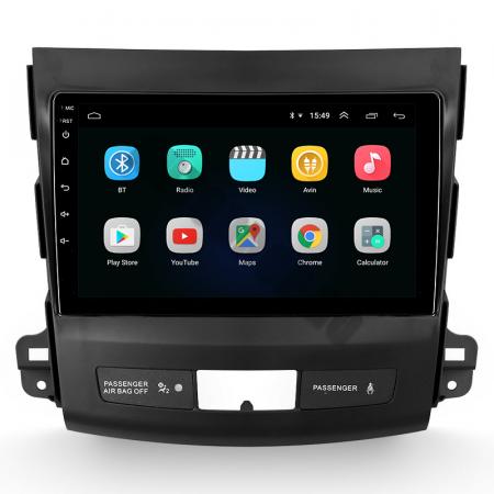 Navigatie Mitstubishi Outlander / Peugeot 4007 / Citroen C-Crosser, Android 9.1, QUADCORE|MTK| / 1GB RAM + 16 ROM, 9 Inch - AD-BGPOUTLANDER9MTK1GB2