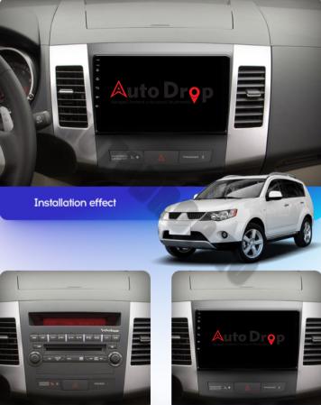 Navigatie Mitstubishi Outlander / Peugeot 4007 / Citroen C-Crosser, Android 9.1, QUADCORE|MTK| / 1GB RAM + 16 ROM, 9 Inch - AD-BGPOUTLANDER9MTK1GB18